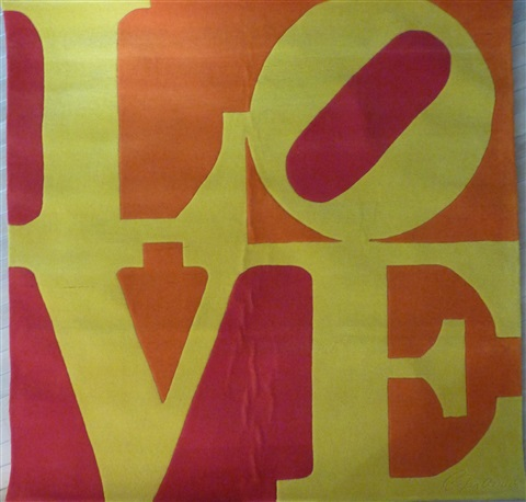 love chosen love tapestry by robert indiana