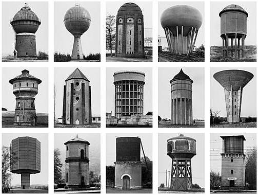 wassertürme (water towers) by bernd and hilla becher