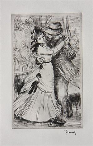 la danse a la campagne (2e planche) by pierre-auguste renoir