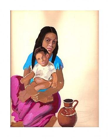 mujer y niño by tamara de lempicka