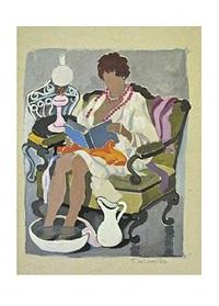 mujer leyendo i by tamara de lempicka