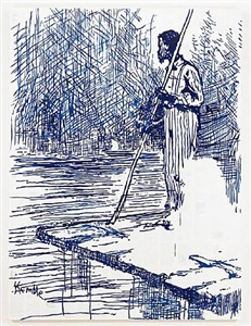 adventures of huckleberry finn on the raft after mark twain by tim rollins and kos