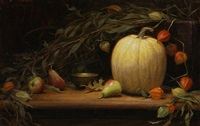autumn still life with pumpkin by grace mehan devito