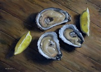 oysters with lemon (sold) by michael naples