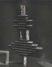 experiment upon the center of gravity made on a set of dominoes, 1894 by mcdermott & mcgough