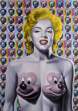 pop marilyn mickeys by ron english
