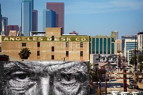 the wrinkles of the city, los angeles, michael downtown, usa by jr