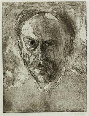e.n. (selbstbildins) (self-portrait) by emil nolde