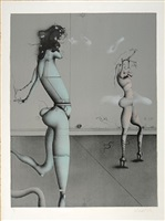 chasing girls by paul wunderlich
