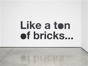 of bricks... by liam gillick
