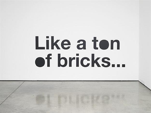 of bricks... by liam gillick