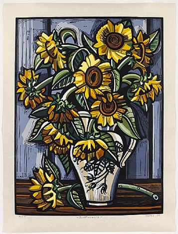 sunflowers by david bates