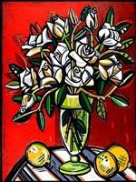 white roses by david bates