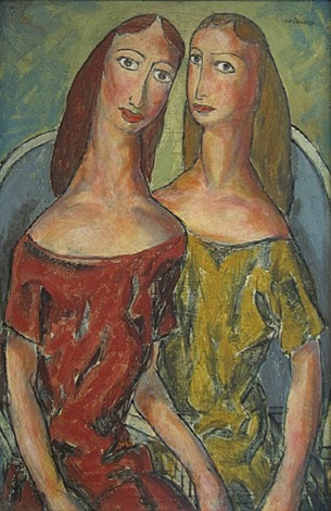 two girls by alfred henry maurer