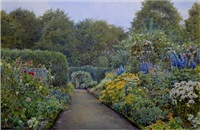 the garden at blair by ernest arthur rowe