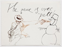 untitled (the game is over, pall!) by pavel pepperstein