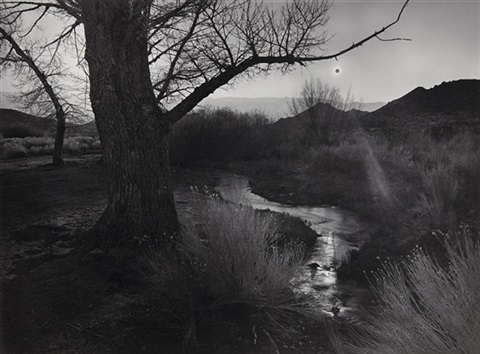 the black sun tungsten hills owens valley california from portfolio v by ansel adams