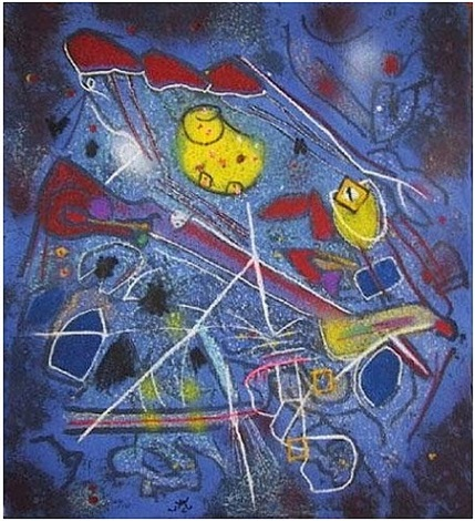 the redness of blue by roberto matta