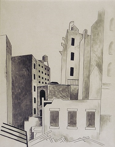 building scene by niles spencer