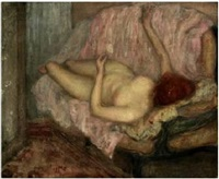 reclining nude by frederick carl frieseke