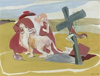 hieronymus und der löwe by siegfried anzinger