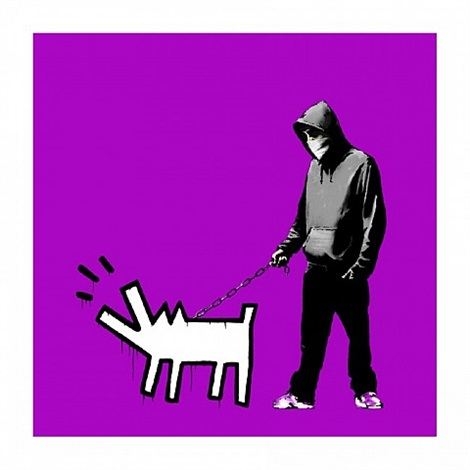 choose your weapon (purple) by banksy