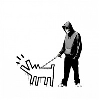 choose your weapon (white) by banksy