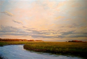 easing into evening (sold) by sandy garvin