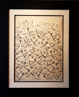 original 1950 ink drawing depicting birds by raymond peynet