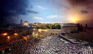 jerusalem, day to night by stephen wilkes