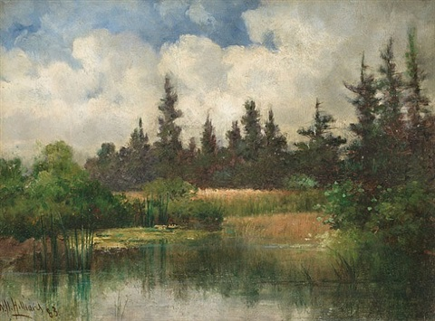 pine pool, kennebunk, maine by william henry hilliard
