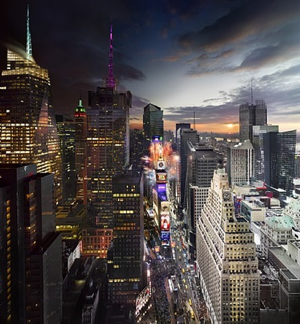 times square, new year's eve by stephen wilkes