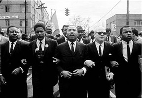 martin luther king marching for voting rights with john lewis, reverend jesse douglas, james forman and ralph abernathy, selma by steve schapiro