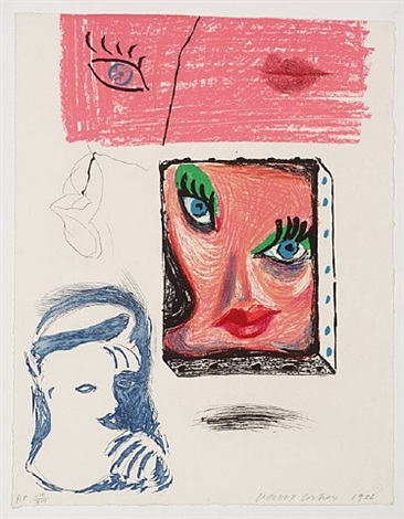 an image of celia by david hockney