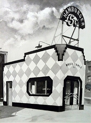 white tower hamburger by john baeder