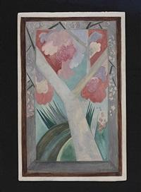 l'arbre rose printemps by natalia sergeevna goncharova
