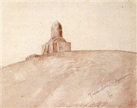 chopan ata - tomb near samarkand from the period of tamburlaine by kuz'ma sergeevich petrov-vodkin