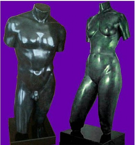 torsos: female (1991) & torsos: male (1994) by frederick hart