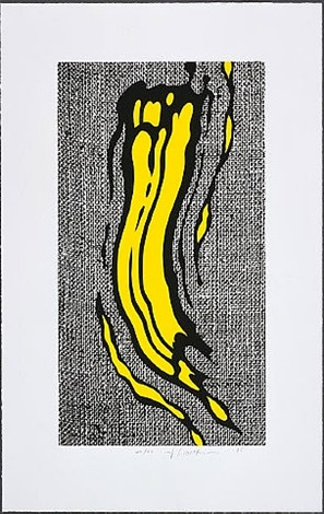yellow brushstroke by roy lichtenstein