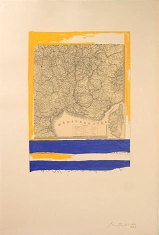 mediterranean (state 1 white) by robert motherwell