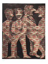 untitled (dancing figures) by enrico baj