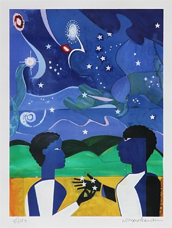 two worlds by romare bearden