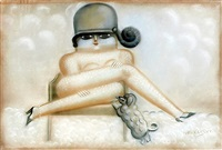 woman on the chair (from the house of dolls series) by yuri krasny