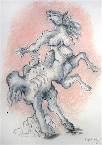 study for bellerophon taming pegasus by jacques lipchitz