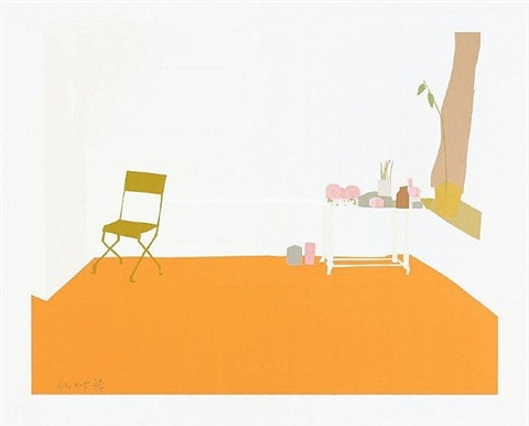 orange interior by alex katz