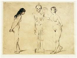 kvinnene ved skjelettet (the women and the skeleton) by edvard munch