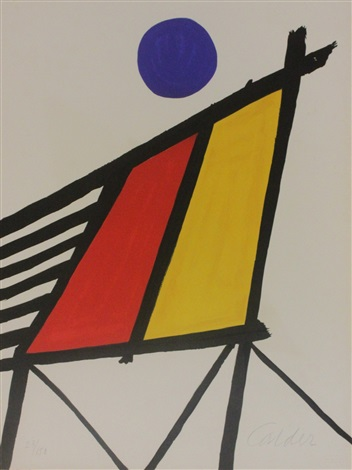 blue sun from conspiracy the artist as witness by alexander calder