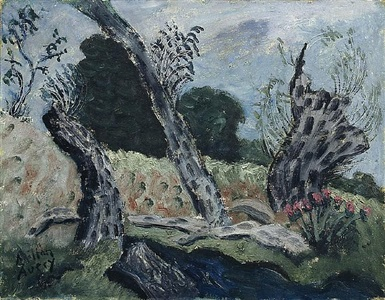 woods, lovely, dark, and deep by milton avery