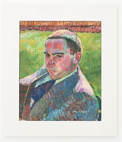 portrait of swiss painter marc gonthier by cuno amiet