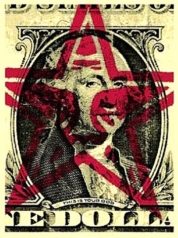 this is your god dollar by shepard fairey